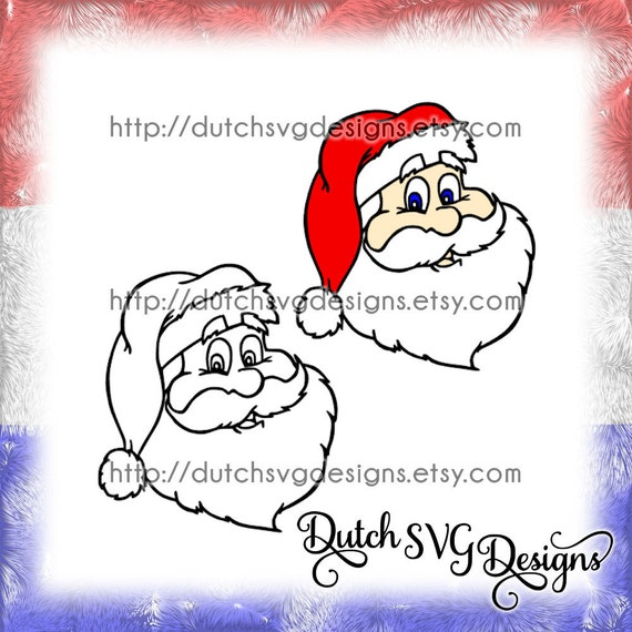 Santa Claus Cutting File Printable In Jpg Png Svg Eps Dxf Etsy