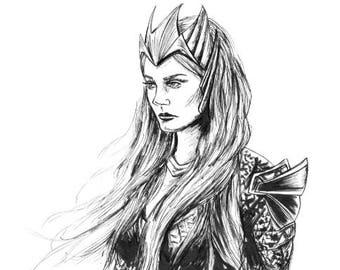 Queen Mera - Aquaman 6x8 print