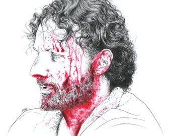 Too Far Gone - Rick Grimes, The Walking Dead 6x8 print