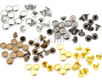 Silver Single Cap Rivet Pyramid Head Sewing Leather Craft Clothing Repair 100pcs