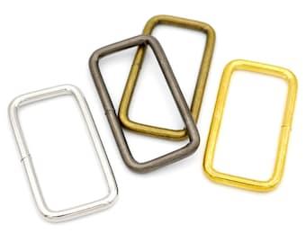 DIY Chrome Heavy Rectangle Loop Metal Buckles