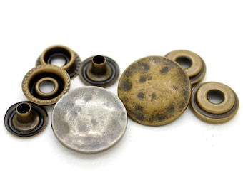 2*kids antique sue ring snap button Decoration snap fasteners for bag clothes