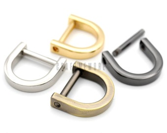 Gold CRAFTMEmore D-Rings with SCREW Shackle Horseshoe U Shape Dee Ring DIY Leather Craft Purse Replacement for 5//8 Inch Strap 4 pcs