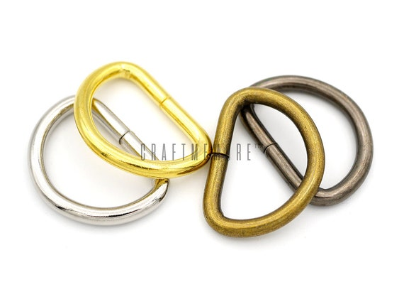 "Heavy Duty 32 mm 1-1//4/"" Solid Cast Brass O rings Bag Strap Leathercraft"