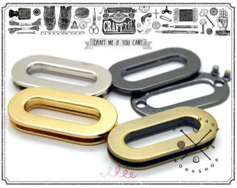 4sets Multi Sizes Metal Oval Screw Ring Purse Loop Slot Handle Eyelet Quality Finish Easy Installation