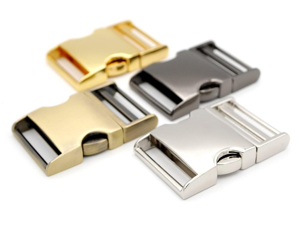 10-3//4 Inch Gunmetal Aluminum Side Release Buckles