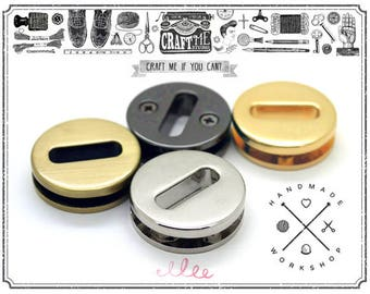 4sets Multi Sizes Metal Round Screw Purse Loop Eyelet Quality Finish Easy Installation