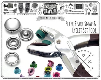 Snap Fastener Pliers Tool Kit Comes with 20 Sets Pearl Snap Buttons