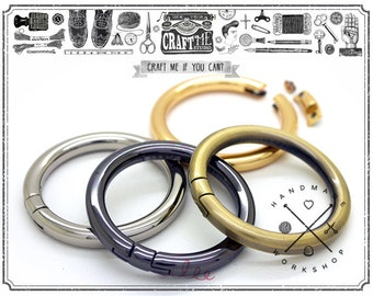 """2PCS Inside 1 1/4"""" O Ring Purse Making Accessories O Rings Open with Screws"""