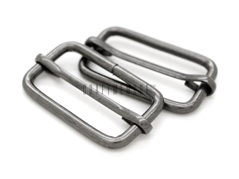 100 1-14 1-12 Movable Bar Slide Strap Adjuster Rectangle Strap Keeper Triglide Belt Keeper Purse Making Pack of 10