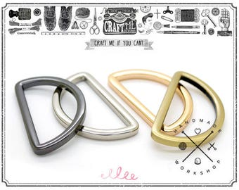 4pcs 1-1/2 Inches D-Rings Quality Plating Flat Metal D-ring Purse Loop Leathercraft Accessories