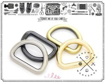 4pcs 3/4inch Slim D-ring Findings Purse Hardware Premium Quality