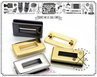 4sets Multi Sizes Metal Rectangle Screw Rings Purse Loop Eyelet Quality Finish Easy Installation