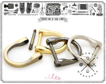 4pcs 1inch D-Rings Screw In Shackle Horseshoe U Shape D Ring DIY Leather Craft Purse Bets Strap Loop Accessories
