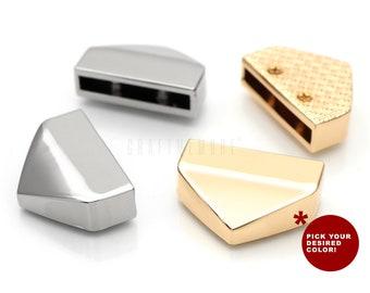 1/2 & 3/4 Inch Belt Tip, Webbing Tip, Screw In Zipper Tip Strap End Caps DIY Sewing Craft Accessories 4 Sets