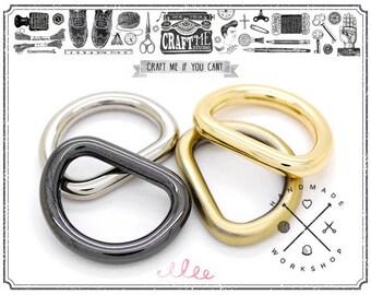 4pcs Multi Size Classic D-ring Findings Purse Hardware Premium D-Rings