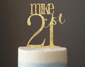 Cake Topper 21 21st Birthday Party Decor Supplies Favors For Adults