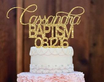 Cake topper - Baptism Cake Topper - Baptism Decor - Religious Cake Topper - Christening - Baby Baptism - Baptism Gift - Party Decor