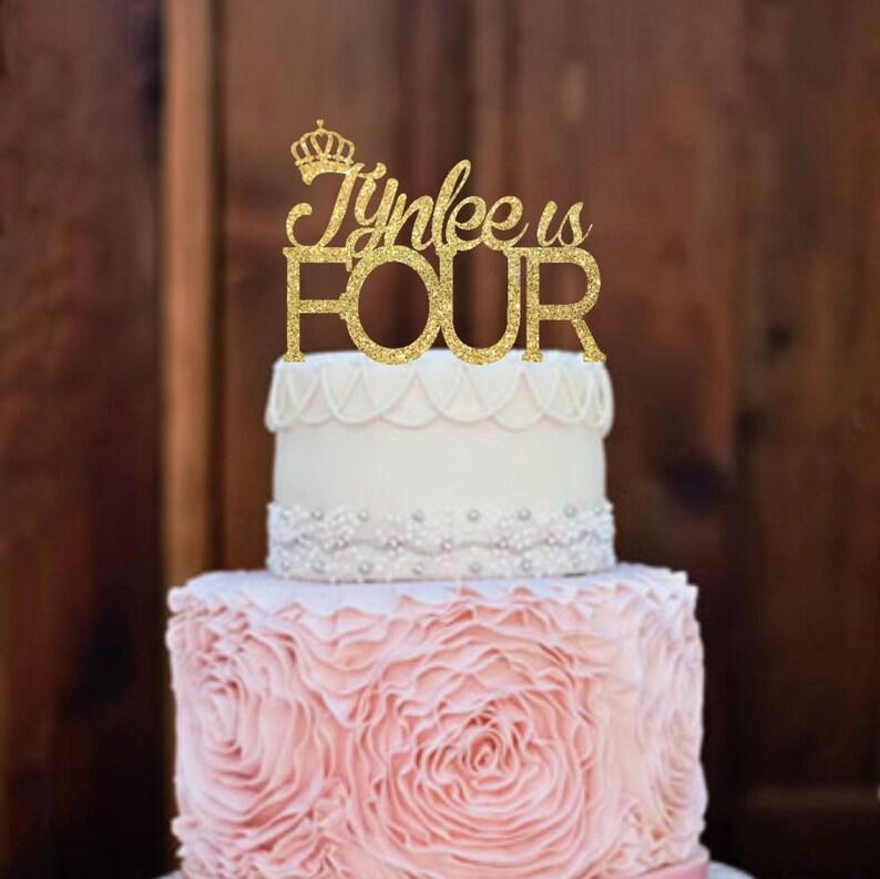 Cake Topper Birthday Cake Topper Four Cake Topper 4th Etsy