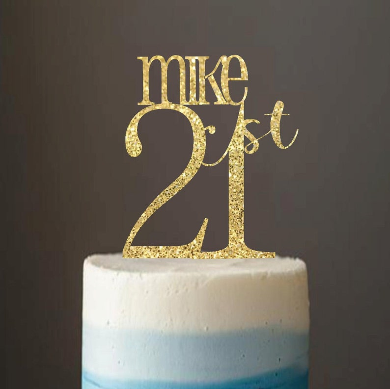 Cake Topper 21 21st Birthday
