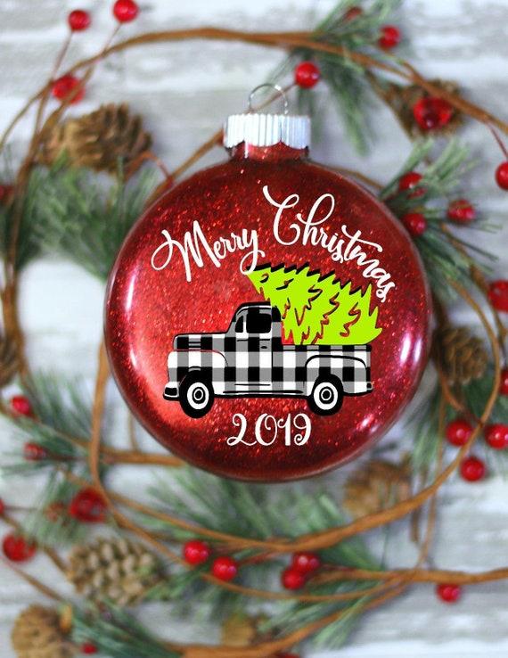 Buffalo Check Christmas Tree Decor.2018 Christmas Ornaments Buffalo Check Buffalo Plaid Ornaments Tree Ornament Farmhouse Christrmas Rustic Christmas Ornaments
