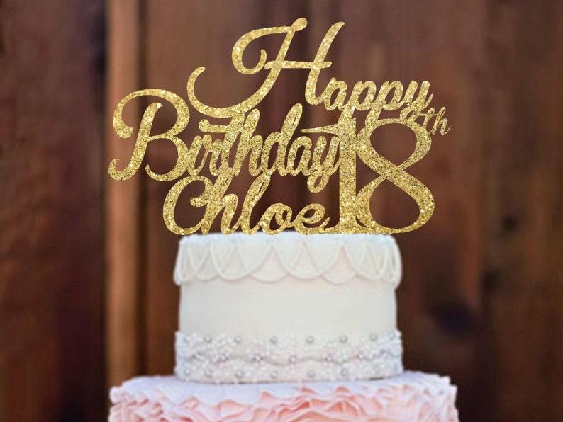 Cake Topper 18th Birthday