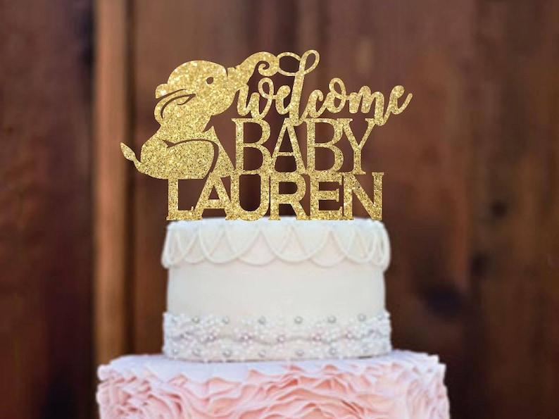 Cake Topper Baby Shower Cake Topper Elephant Baby Shower Etsy