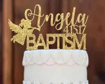 Cake Topper - Baptism Cake Topper - Baptism Decor -Religious Cake Topper - Baby Baptism - Religious Centerpieces -