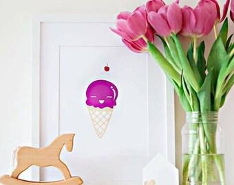 Anyone for icecream foil print