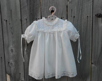 heirloom dress and slip-Sz 12 mo.