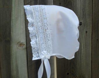Baby Bonnet - Heirloom Style - Sz. 18-24 mo.