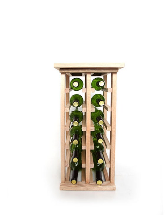 12 Bottle Wine Rack With Tabletop Etsy