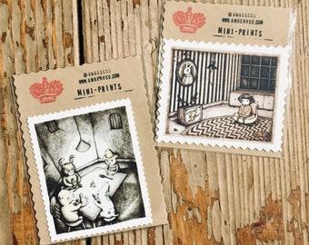 Hand-cut Miniprint Bundle