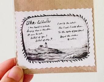 Hand-cut Miniprint: The Whale