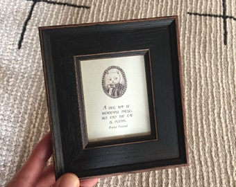 Framed Miniprint: Only the Cat is Poetry
