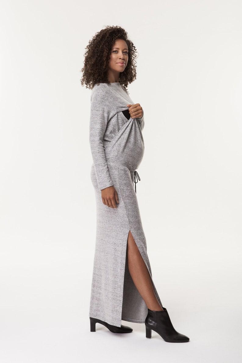 741b82767c6 Maternity Fashion Maxi Dress - raveitsafe