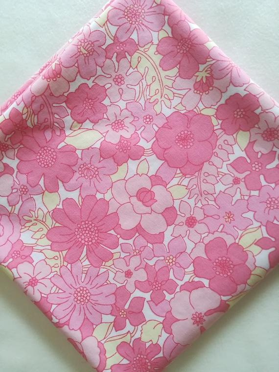 Rétro / en tissu / tissu floral rose / Rétro 1970 ' s tissu 6386fc