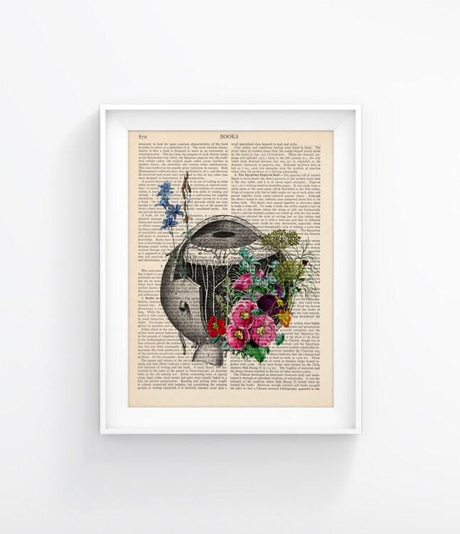 Auge / Blumen menschliche Anatomie Vintage Buch Druck Kunst | Etsy