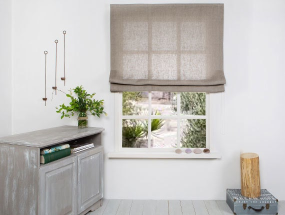 Linen Roman Blinds Linenhomedecor