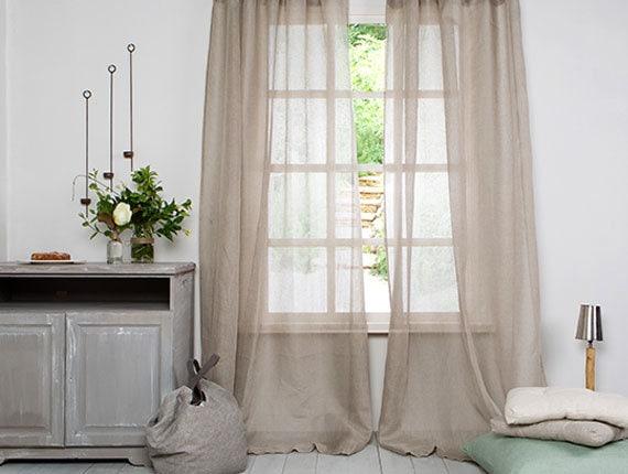 Curtains-Linen Panels -Sheer Linen