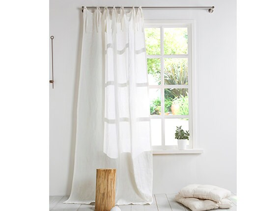 Extra Large Linen Curtain With