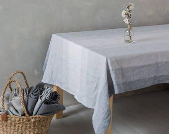 """Linen tablecloth-Linen table cloth - Tablecloths-Washed Linen Tablecloth- Dining linen tablecloth-Width 55"""" x Custom length."""