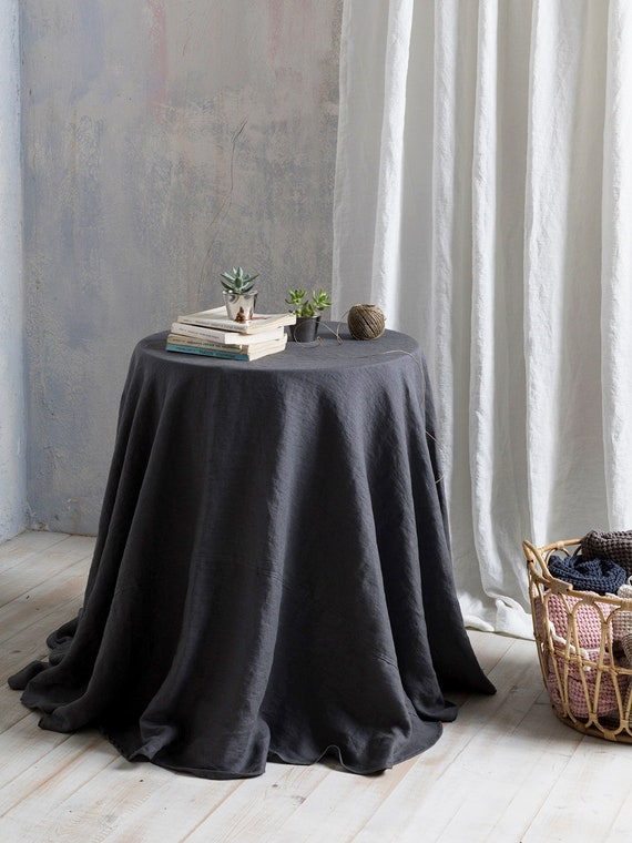 Linen Tablecloth Round Linen Tablecloth Extra Large Round Etsy