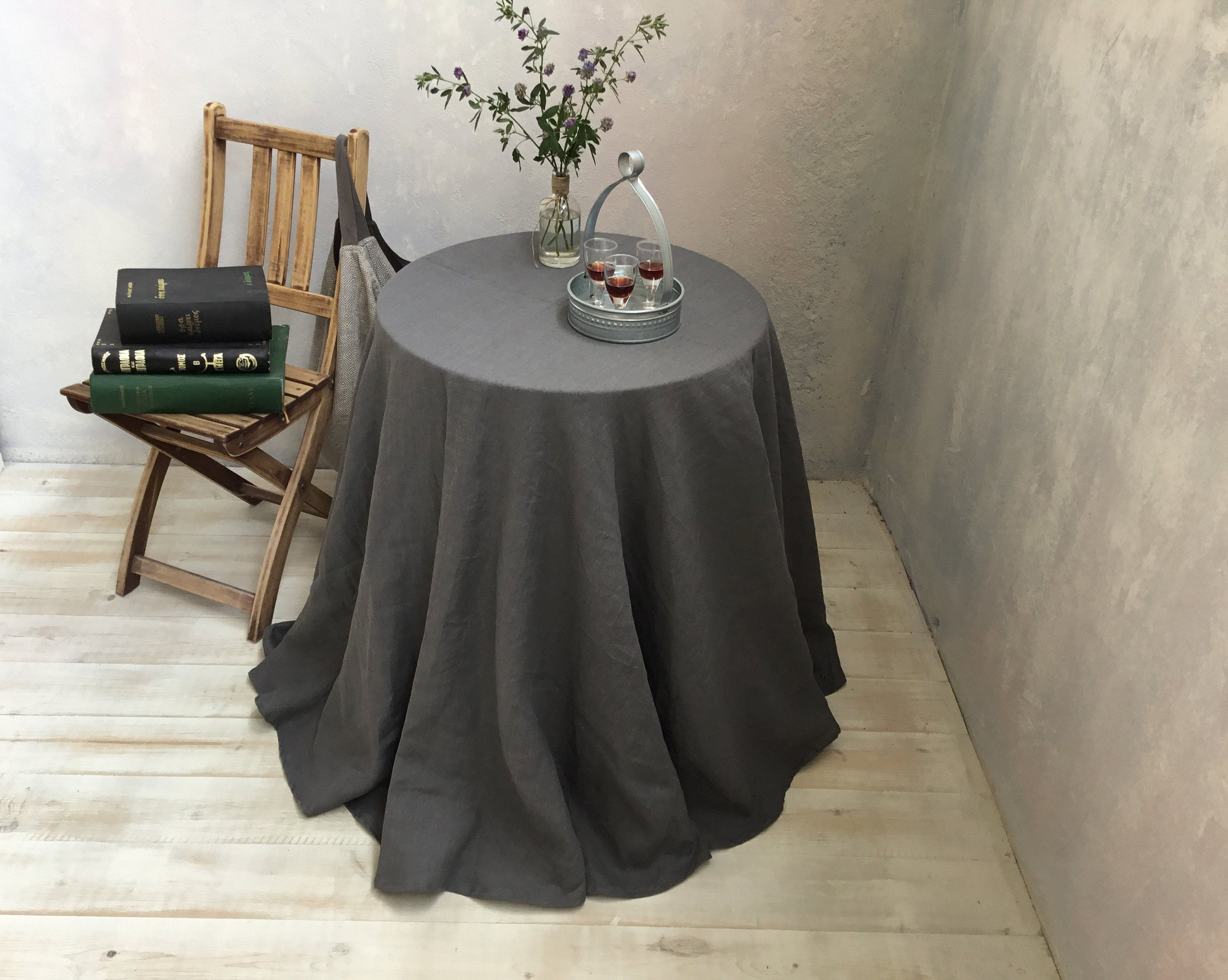 Extra Large Round Table Cloth.Linen Tablecloth Round Linen Tablecloth Extra Large Round