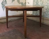 MCM Table Jens Risom Game Table Revolving Top Mid Century Designer Furniture