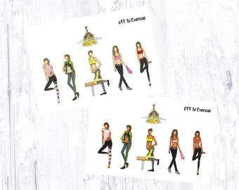 Off to Exercise Sticker Set