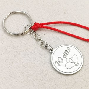 Limited Edition Love /'17mm/' Key door for your tin wedding 20112021 with 3 medals: text /'30 heart /'17mm