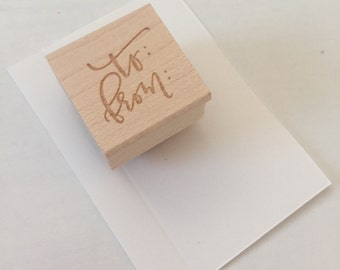 calligraphy stamp - to from
