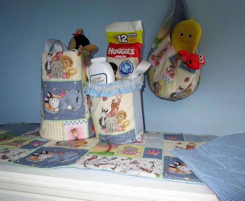 4 Piece Baby Nursery Set Features Fun Circus Animals
