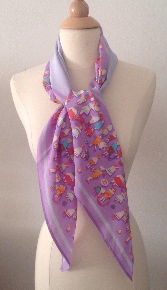 Chanel fun oblong silk scarf, belt, head-wrap.